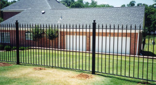 economical design ornamental iron fence