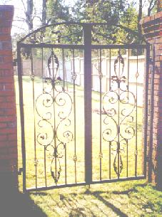 forged wrought iron gates