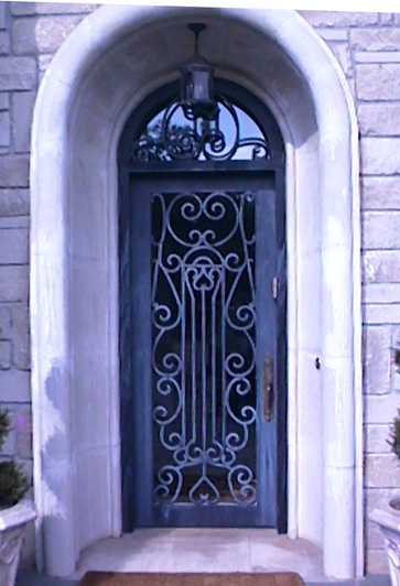 hand forged aluminum entry door