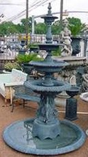 cast aluminumfountain with swan base