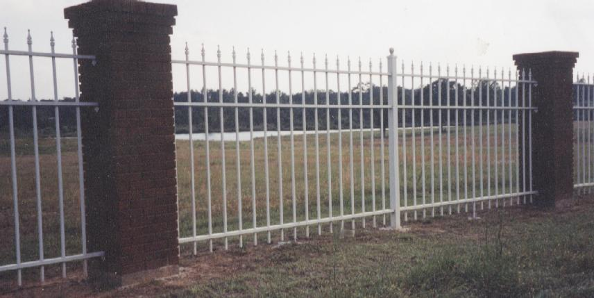 six foot tall commercial grade wrought iron fence
