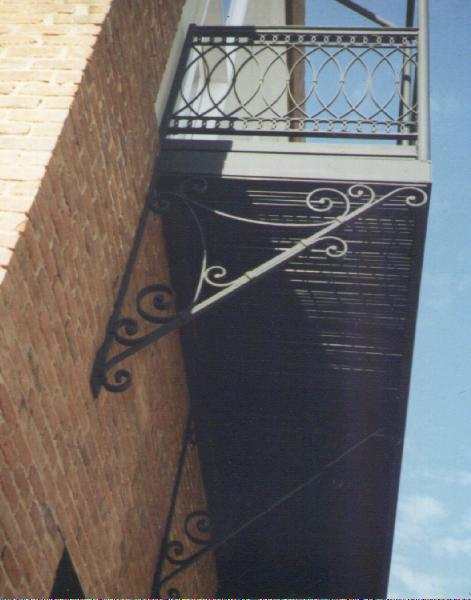 ornamental iron balcony