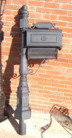 cast aluminum mailbox stand with post burial mounting