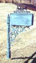 cast iron mailbox post
