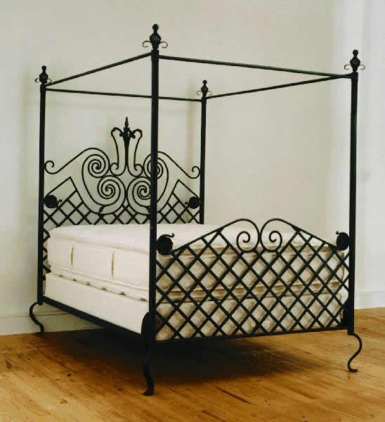 ornamental iron forged beds