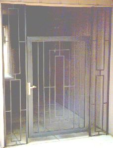 aluminum pedestrian entrance gate
