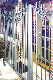 security gate with deadbolt