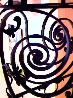 wrought iron railing circular
