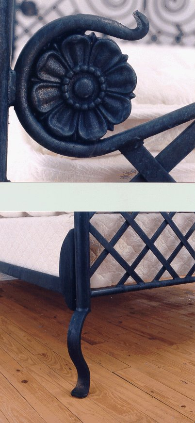 hand forged wrought iron beds
