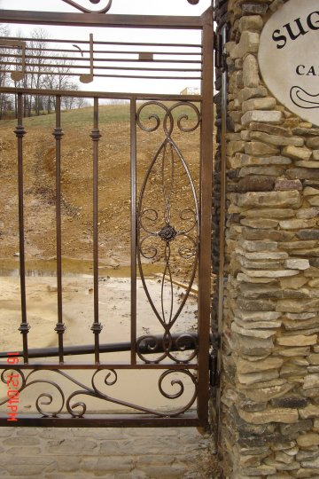 hand forged wrought iron gate detail