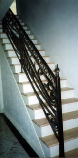 wrought iron stairway railing