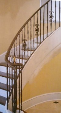curved interior railing