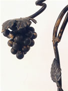 hand forged wrought iron grape vine