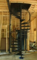 wrought iron spiral steps